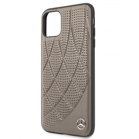 Mercedes Bow Quilted/perforated Hard Brown