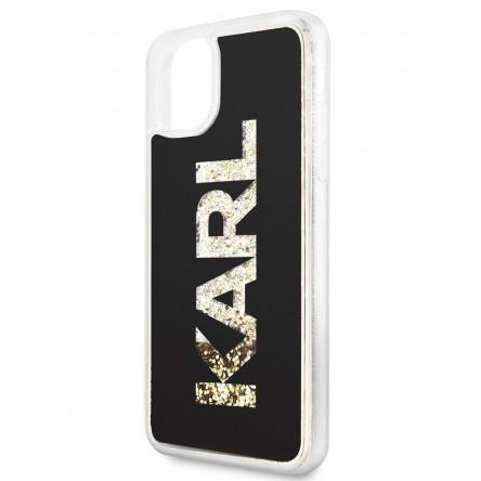 Lagerfeld Liquid glitter Karl logo Hard Black/Gold