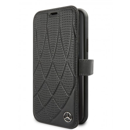 Mercedes Bow Quilted/perforated Booktype Black