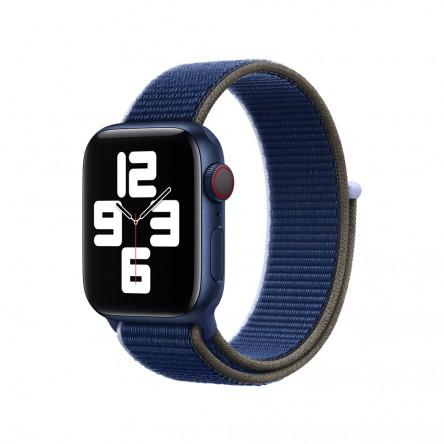 Спортивный браслет чёрно-синего цвета (для корпуса 40 мм)