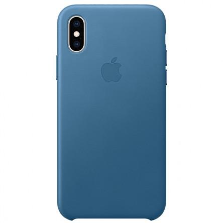 Apple iPhone ХS Leather Case Cape Cod Blue