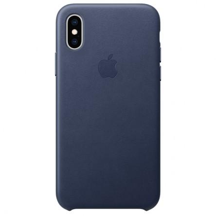 Apple iPhone ХS Leather Case Midnight Blue