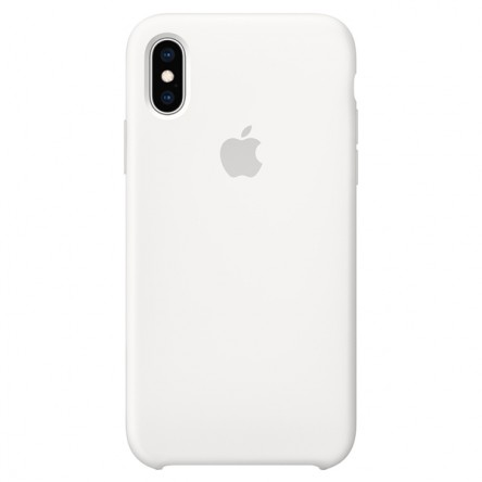 Apple iPhone ХS Silicone Case White