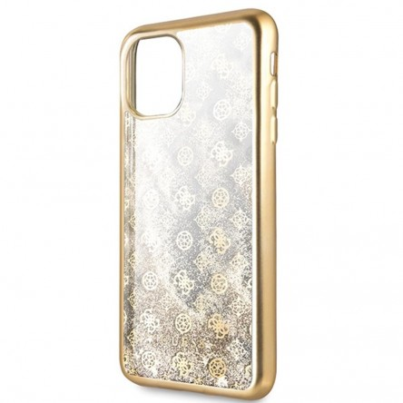 Guess Liquid glitter 4G Peony Hard for iPhone 11 Gold