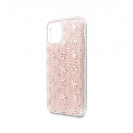Guess Liquid glitter 4G Peony Hard for iPhone 11 Pink