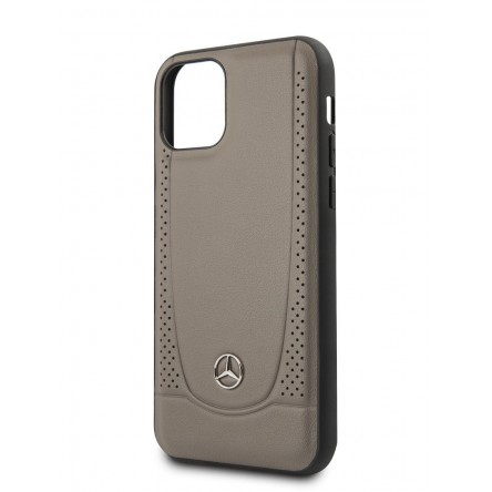 Mercedes Urban Smooth/perforated Hard for iPhone 11 Brown