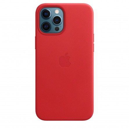 Apple iPhone 12 Pro Max Leather Case with MagSafe Red