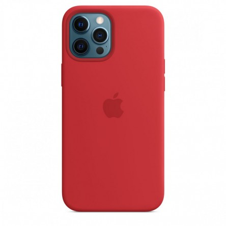 Apple iPhone 12 Pro Max Silicone Case with MagSafe Red