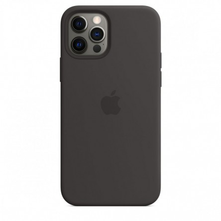 Apple iPhone 12 | 12 Pro Silicone Case with MagSafe Black