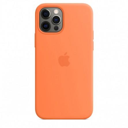 Apple iPhone 12 | 12 Pro Silicone Case with MagSafe Kumquat
