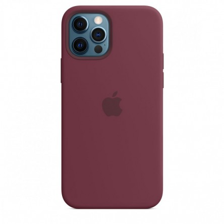 Apple iPhone 12 | 12 Pro Silicone Case with MagSafe Plum