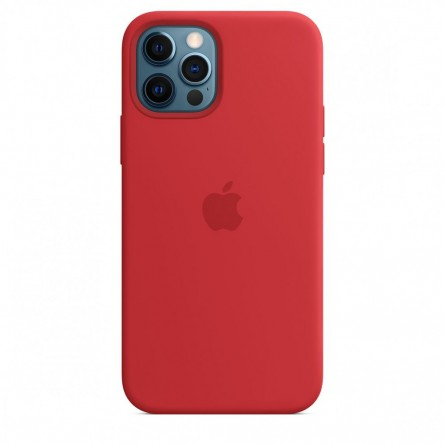 Apple iPhone 12 | 12 Pro Silicone Case with MagSafe Red