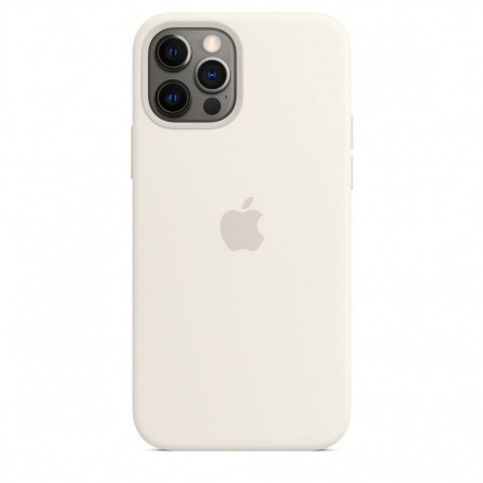 Apple iPhone 12 | 12 Pro Silicone Case with MagSafe White