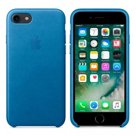 Apple iPhone 7 Leather Case Sea Blue