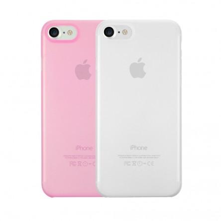 Ozaki 0.3 Jelly for iPhone 7 прозрачный и розовый