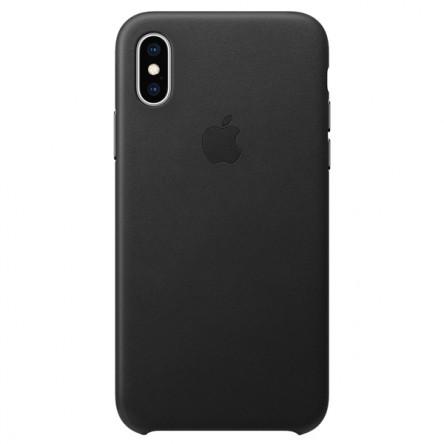 Apple iPhone ХS Leather Case Black